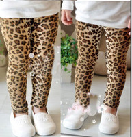 Wholesale Spring girl leopard pants Children Legging Girls Leopard Legging baby pants girl leopard tights free