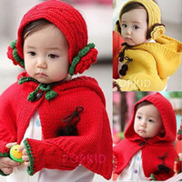 Wholesale New Set Piece Set Baby Girls Clothes Lovely Cloak Hairband Gloves Baby s Poncho Jersey