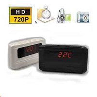 Wholesale spy Hours Recording Clock Camera mini DVR baby monitor H degree with Motion Detection