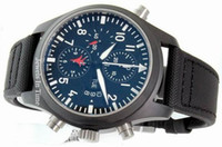 Sport analog coats - Rare Mens Casual Pilots Watch Black DLC Coating Fliegeruhr Men Automatic Pvd Sport Wristwatch
