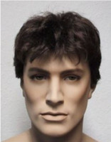 Wholesale New Handsome short hair men s wig Free wig cap