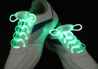 Wholesale 100 pairs newest G hot olive LED flashing Glow shoes laces fashion DISCO Party