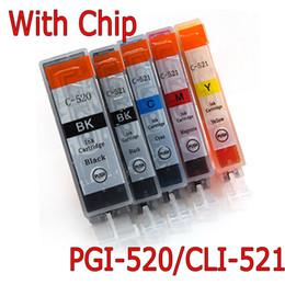 Wholesale ink set for Canon PGI CLI w chip IP4600 MP620 MP540 MP640 MP550 MP560 MP980