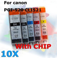 Wholesale ink set for Canon PGI CLI w chip IP4600 MP620 MP540 MP640 MP560 MP980