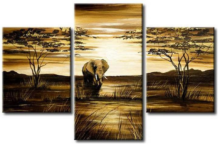 2017 Large Art Oil Painting Wall Decor On Canvas :Elephant From  Chenxinzhijia, $50.26 | Dhgate.Com