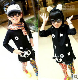 Wholesale New Fashion cute Autumn hoodies children lovely Panda tops kids long sleeve over coat baby Sweater