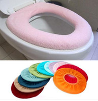 Cheap Hot Selling! Colorful Comfort Bathroom Warmer Toilet Washable Cloth Seat Cover Pads