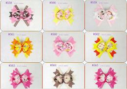 "wholesale-baby girls 4"" cute hair bows hairbows grosgrain ribbon hairbows hair clips 100pcs lot"