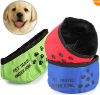 Wholesale High Quality Pet Dog Cat Puppy Feeding Bowl Water Food Foldable Dish Outdoor Travel Camping