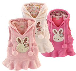 Wholesale 2012 Children s Baby Girl s waistcoat Coral fleece rabbit children s vest dress waistcoat
