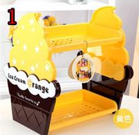 Wholesale X014 NEW Ice Cream Double Layer Shelf Rack Storage