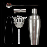 Wholesale Hot SellinG Set Stainless Steel Cocktail Martini Drink Mixing Bars Shaker Bartender Kit