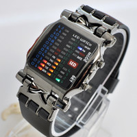Wholesale Cheap for Cool Colorful LED Digital Binary Wrist Watch Black Time Date Week display