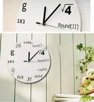 Wholesale Hot Selling Creative Great Teacher Gift Pop Quiz Math Equations Wall Clock Mathematical