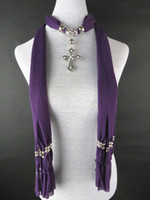 Wholesale Autumn winter autumn women scarves fashion charm pendant scarf PL21185