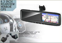 Wholesale special rearview mirror with gps navigation and supprots car camera auto dimming FOR Volvo Peugeot