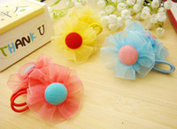 Wholesale Children cloth art class hair ornament and pure and fresh snow yarn hair ring