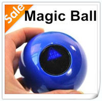 Blue Plastic Ball Mystic Black ball 8 toys funny toy small size 4.5cm divination mysterious prophecy magic ball 8