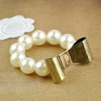 Bronze Bows Oversized Pearl Bracelets Sisters Style Bracelet...