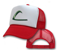 New Pokemon Ash Ketchum Trainer Hat Costume Cap Adult Mesh H...
