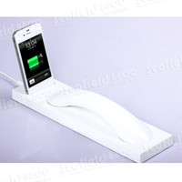 Wholesale Special design Bluetooth Wireless handset with Charger dock For iPhone S mix color