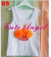 Wholesale Birthday Cupcakes amp Ice Cream Cones Shirts T Shirt match with Pettiskirts c