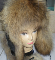 Wholesale Fur Lei Feng Bomber aviator ushanka ranched fox fur hat Warm