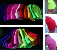 Wholesale Fluorescent Colors Knitted Caps Headgear Unisex Style Wool Caps Hip Hop Hats