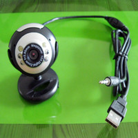 Wholesale USB M LED PC Laptop Video Web Cam Webcam Mic
