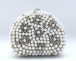 Wholesale Elegant Pearl Evening Bag Women Lady Clutch Handbag Bride Bag Purse Dress Party handbag Wedding