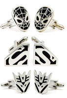 Wholesale 12pair Novelty Solid Brass Platinum Cufflinks Men White Gold PD Fashion Shirt French Cuff Links Gift