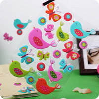 Wholesale GLITTER STICKERS SPONGE POPUP CM KIDS ROOM CUTE SPOT REMOVEABLE FUN M
