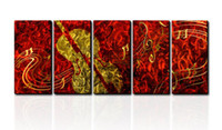 Oil Painting wall sculpture - Metal Wall Art Abstract Modern Sculpture Painting Handmade panle in one set CHB6015021
