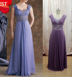 Wholesale Custom Made Elegant A line V neck Chiffon Beaded Exquisite Applique Mother of Bride Dresses