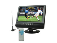 Wholesale 9 inch TFT LCD color Analog TV with wide view angle Support SD MMC Card USB Flash disk AV In Out