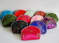 Wholesale Mixed Color Silk Purse Wallet Makeup MP3 Bag Xmas Lover Birthday Christmas Gift