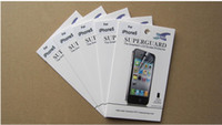 Wholesale For iPhone Screen Protector Clear LCD Film guard with Cleaning Cloth and Retail Package iPhone5 G