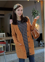 Wholesale New Fashion Korea Style Women s Sweater Pure colorPlait of Fried dough twist Sweater