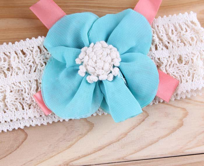 3Colors Flower Baby Headbands Girls Hair Band Children Hair Accessory