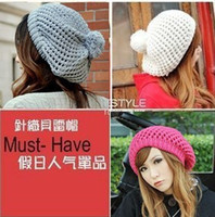 Wholesale 2012 New Lady qiu dong outfit hat popularity sheet is tasted double beret MaoXianMao