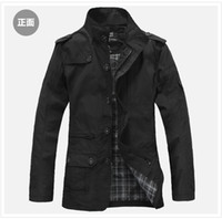 Wholesale Men s jackets motorcycle jacket leisure thin coat long section of the stand up collar jacket