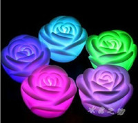 Wholesale Rose LED light amp rose flower light amp candle light amp Led light for your love chirstmas gift