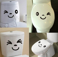 Wholesale High Quality Cute Toilet Expressions Decor Mural Art Wall Sticker Decal