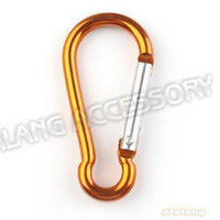Non-Locking Carabiners Outdoor sport 49*24*4mm NEW Brown Calabash Shape Aluminum Carabiner Durable Climbing Hook For Outdoorsport 36pcs lot 160894