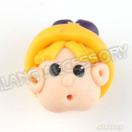 Wholesale Fashion Yellow Hat Colorful Doll Polymer Clay Fantastic Beads Fit Handcraft DIY