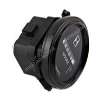 Wholesale 3pcs L54 Round quot Analog Hour Meter Gauge V Volt Car Truck Go Golf Cart Jeep