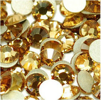 Wholesale Crystal rhinestone motif non hot fix rhinestone nail art rhinestone Light Topaz SS