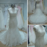 bernadette wedding dress - Beach Wedding Dresses Mermaid Lace V Neck Beaded Fishtail Chapel Train Designer Bernadette Wedding Dress