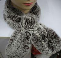 fur flower scarf - Rex Rabbit Fur Scarf Neckscarf Neck Warmer Flower design