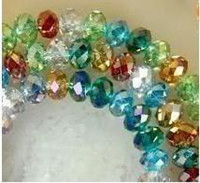 Wholesale mm Multicolor faceted Crystal Loose gemstone Bead